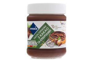 Паста Премія ореховая какао-кранчи б/пальмов масла
