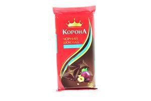 Шоколад черный с изюмом и лесными орехами Корона 90г