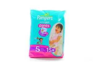 Подгузники-трусики Active girl Pampers 12-18кг