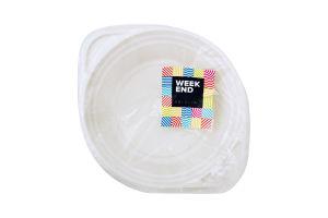 Тарелка пластиковая глубокая Weekend 500мл 25шт