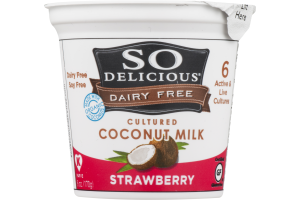 So Delicious Dairy Free Cultured Coconut Milk Strawberry