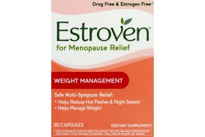 Estroven Menopause Relief Weight Management - 30 CT