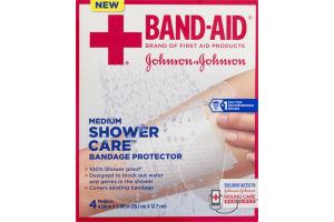 Band-Aid Medium Shower Care Bandage Protector - 4 CT
