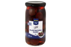 Оливки чорні з кісточкою Metro Chef с/б 350г