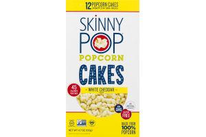 SkinnyPop Popcorn Cakes White Cheddar - 12 CT