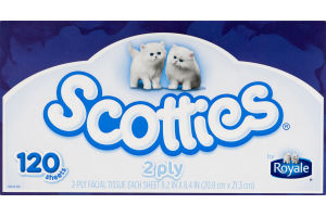 Scotties 2 Ply Facial Tissue - 120 CT
