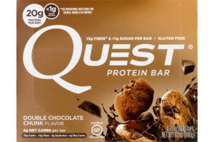 Quest Protein Bars Double Chocolate Chunk - 4 CT