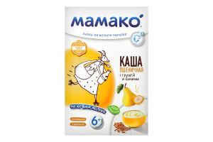 Каша молочная сухая быстрорастворимая для детей от 6мес Каша пшеничная с грушей и бананом на козьем молоке Мамако к/у 200г
