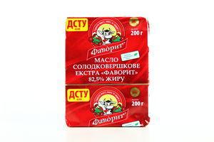 Масло 82.5% сладкосливочное экстра Фаворит м/у 200г