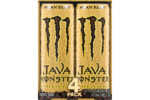 Monster Java Coffee + Energy - 4 PK