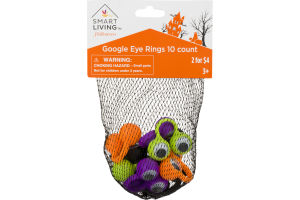 Smart Living Halloween Google Eye Rings - 10 CT