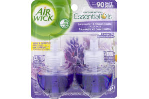 Air Wick Essential Oils Refills Lavender & Chamomile - 2 CT