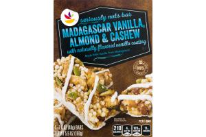 Ahold Seriously Nuts Bar Madagascar Vanilla, Almond & Cashew - 4 CT