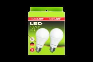 Промо-набір ламп Eurolamp LED світлодіодна A60 E27 10Watt