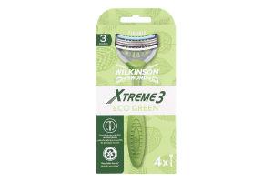 Бритва одноразова Xtreme3 Eco Green Wilkinson Sword 4шт