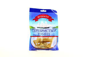 Тунец серебристый сушеный соленый филе кусочками ср/с Морские м/у 36г