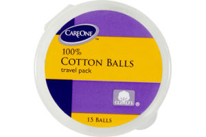 CareOne Travel Pack 100% Cotton Balls - 15 CT