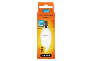Лампа Videx LED C37e 6W E14 4100K 220V