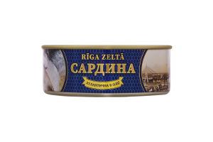 Сардина атлантическая в масле Riga Zelta ж/б 240г