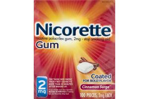 Nicorette Gum 2mg Stop Smoking Aid Cinnamon Surge - 100 CT
