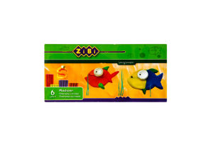 Пластилін дитячий 6 кольорів за стеком ZiBi