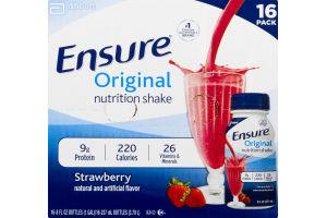 Ensure Original Nutrition Shake Strawberry - 16 CT