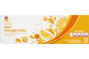 Ahold Diet Orange Soda Caffeine Free - 12 CT