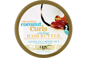 OGX Quenching Coconut Curls Hair Butter Leave In Or Rinse Out