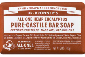 Dr. Bronner's All-One Hemp Eucalyptus Pure-Castile Bar Soap