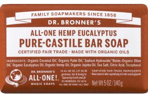 Dr. Bronner's All-One Hemp Eucalyptus Pure-Castile Bar Soap