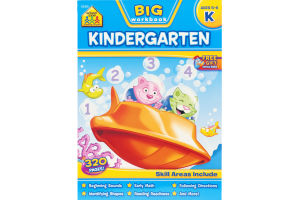 School Zone Big Workbook Kindergarten (Ages 5-6)