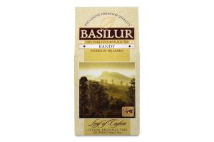 Чай чорний Канді Лист Цейлону Basilur к/у 100г
