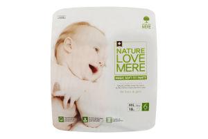 Подгузники для детей размер 6 13кг Magic soft fit panty NatureLoveMere 18шт