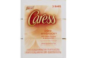 Caress Silkening Beauty Bar Pure Embrace - 3 CT