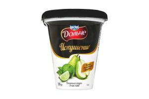 Йогурт Десертний Спокуса 2,5% груша-лайм Дольче стаканчик 300г