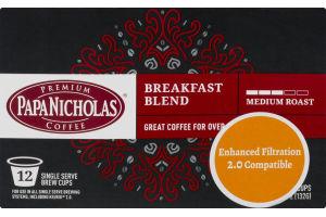 Papa Nicholas Breakfast Blend Medium Roast - 12 CT
