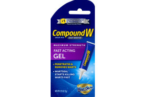 Compound W Wart Remover Fast Acting Gel Maximum Strength