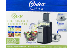 Oster 2-in-1 Salad Prep & Food Processor