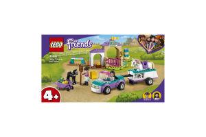 Конструктор для детей от 4лет №41441 Horse Training and Trailer Friends Lego 1шт