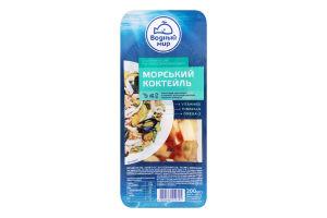 Коктейль морський солений в олії По-середземноморськи Водный мир лоток 200г