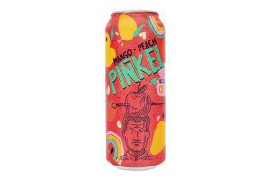 Напій 0.5л 5% зброджений газований зі смаком кавун-персик-манго Pinkel Cidre Royal з/б