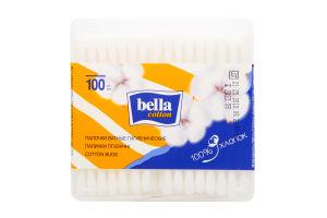 Палички ватні Bella квадратна коробка 100шт
