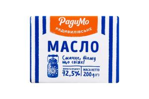 Масло сладкосливочное 72.5% Крестьянское РадиМо м/у 200г