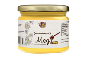 Мед натуральний квітковий акацієвий, вищого ґатунку.