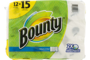 Bounty Paper Towels Select-A-Size - 12 CT