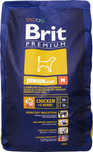 Корм д/щенков Brit Премиум Джуниор M курица сухой