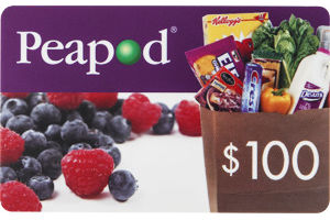 Peapod $100 Gift Card