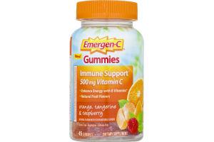Emergen-C Gummies Immune Support Orange, Tangerine & Raspberry - 45 CT