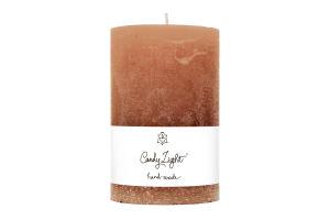Свеча Candy Light цилиндр роз-коричн С10*15/1-7.1