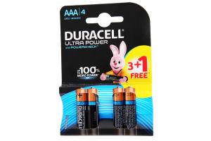 DURACELL Ultra Power AAА Бат. алкал. 1.5V LR03 3+1шт безкоштовно 4шт